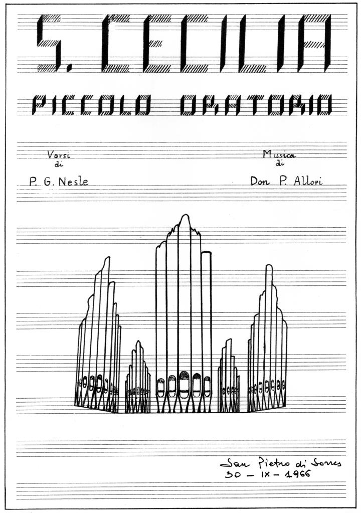 P. Allori, S. Cecilia, piccolo oratorio, frontespizio, 1966