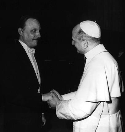 Paolo IV con Arturo Benedetti Michelangeli (1966)