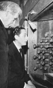 Heinz Wunderlich con Albert Schweitzer alla consolle dell'organo Schnitger di Amburgo