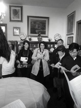 Tradizionale momento artistico culturale in Casa Allori (via Gramsci 158) dopo la messa di s. Cecilia