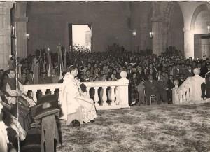"""Messa del Giubileo episcopale di S.E. mons. Giovanni Pirastru, vescovo di Iglesias - 20 novembre 1955 Foto: Archivio """"Casa Allori"""" - Gonnesa"""